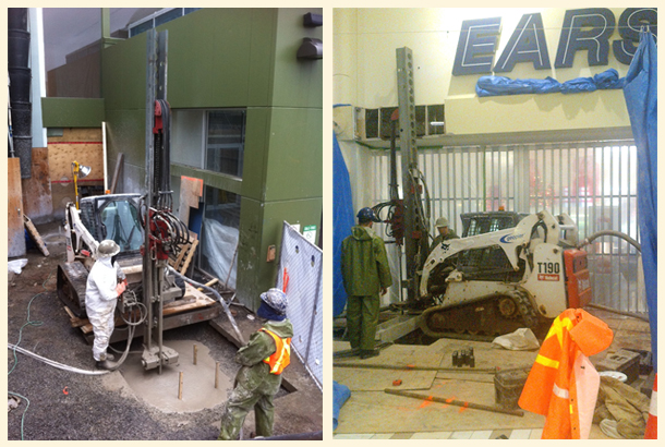 Halifax Shopping Centre Injection Bore Micro-Pile System