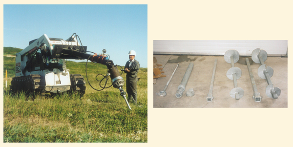 Sable Island Wind Turbines Helical Pier Foundation System
