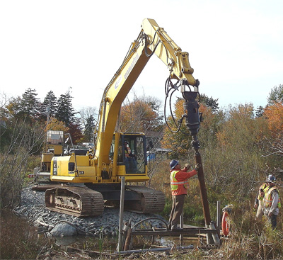 Helical Pull-Down Micro-Piles Bissett Lake Boardwalk